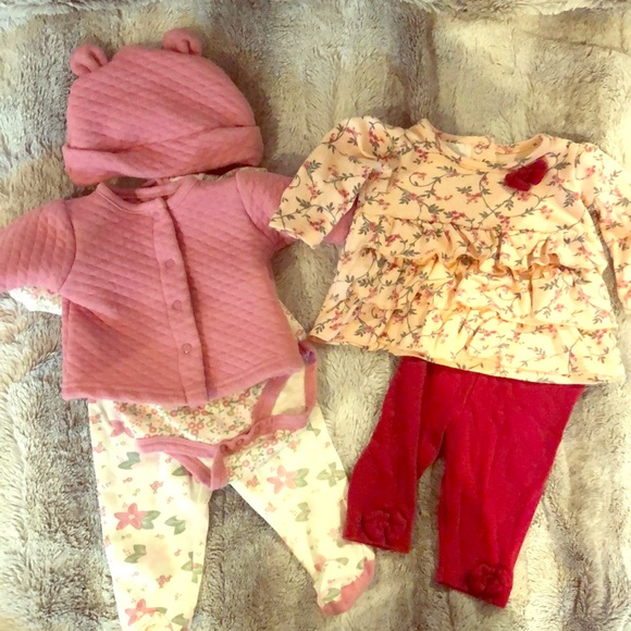 Laura Ashley Other - Baby Girl Matching outfits 0-3 month bundle